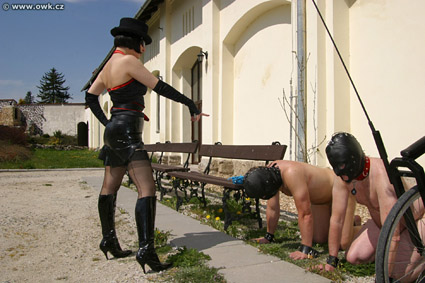 owk mistress riding pony boys