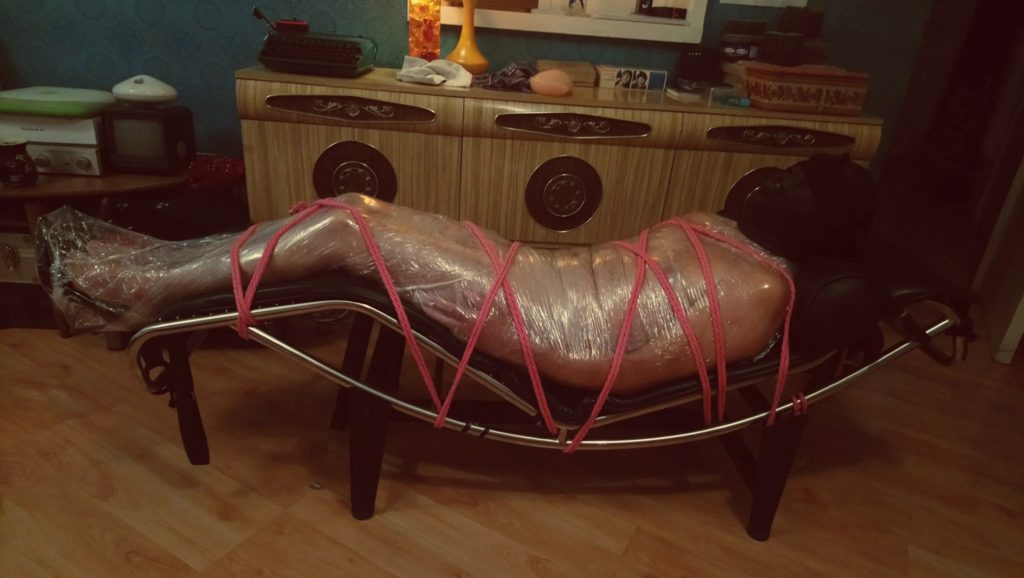 pallet wrap mummification fetish