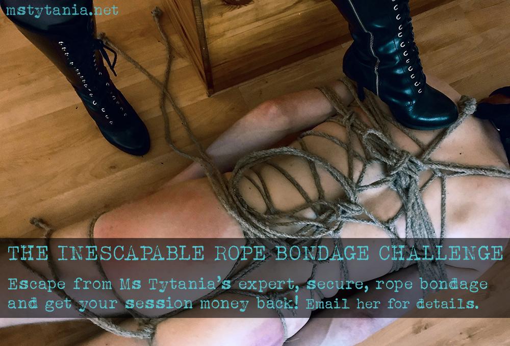 inescapable rope bondage challenge